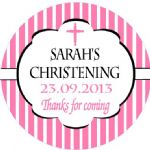 Personalised Girl Christening Sticker Design 6